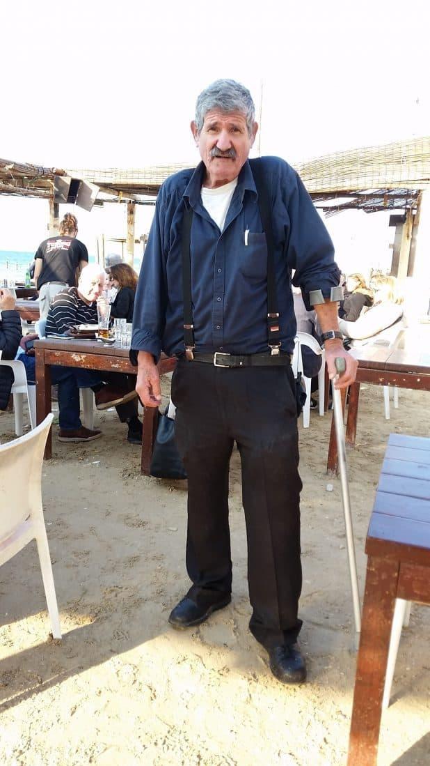 לא הבנתי כמה קשה נפגעה הרגל השניה. אמציה עמפלי (צילום: רותי ברמן)