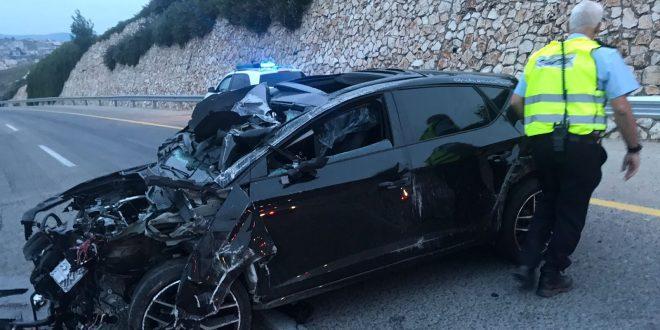 התאונה הקטלנית צילום דוברות המשטרה