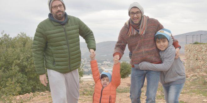 אנדרס ודורון עם הילדים