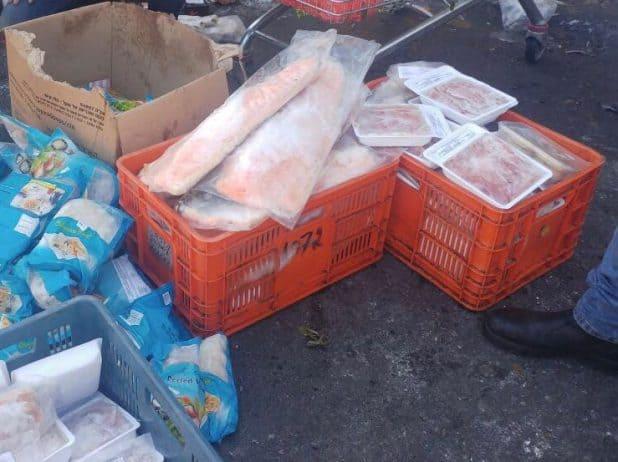 הבשר שהוחרם (צילום דוברות המשטרה)