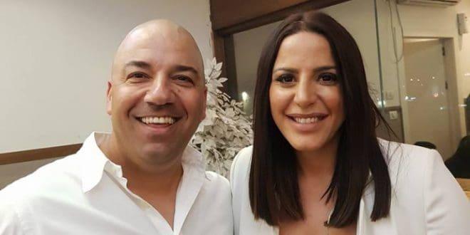 נסרין קדרי ומיכאל עמר (צילום עצמי)