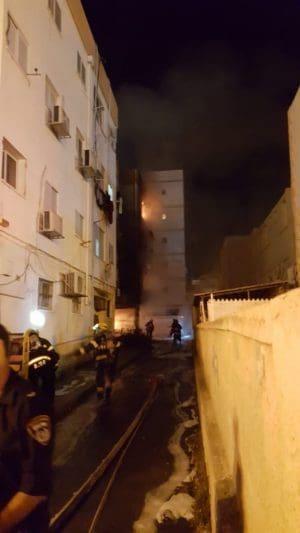 חוקר שריפות קבע חשד להצתה. הגעתון 54 צילום כיבוי אש זבולון