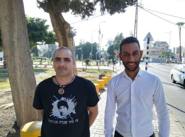 איתי כהן ואמיר לבון משמאל (צילום עצמי)