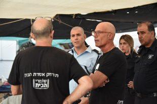 פינוי מאהל המחאה. צילום: משטרת ישראל