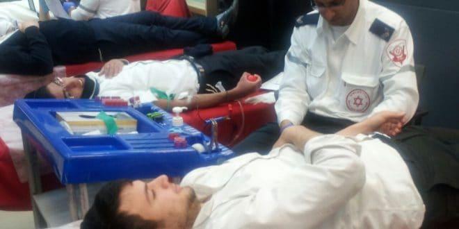 """התרמת דם משנים קודמות (צילום: דוברות מד""""א)"""
