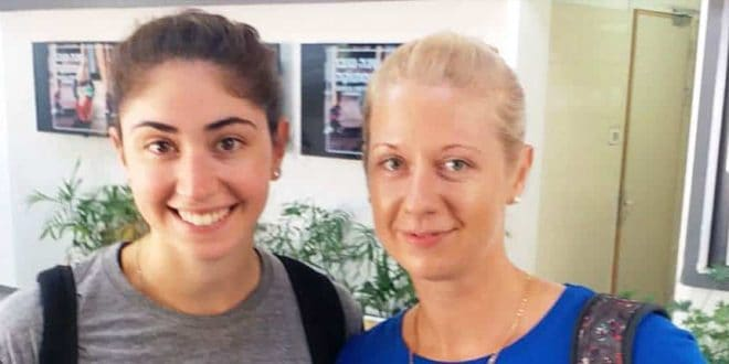 שיתוף פעולה אוקראיני-אמריקאי. מימין: אולגה ליז'נקינה וסטפני אלפרט צילום: עירוני אתא