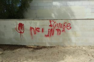 כתובת נאצה נגד שלומי טל. צילום: מטה שלומי טל