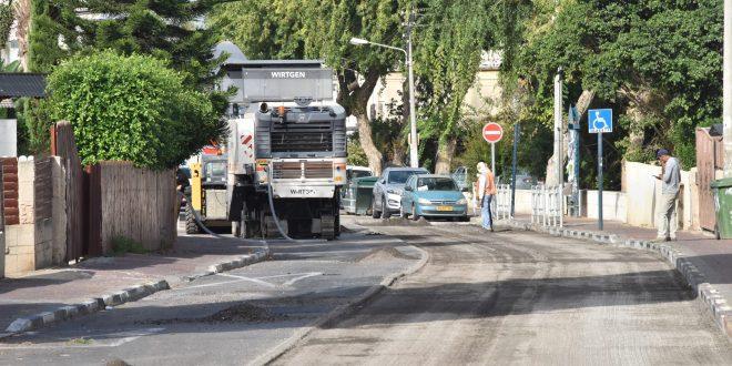 בודות תשתית ברחוב הוגו מולר. צילום: דוברות העירייה