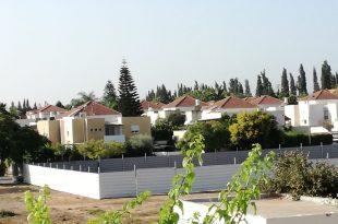 השטח המגודר לבנייה (צילום: פרטי)