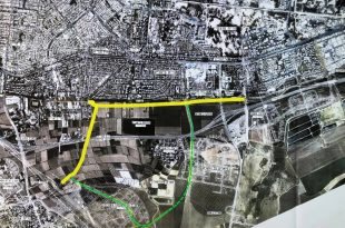הכביש המתוכנן לאורך טיילת הגדורה