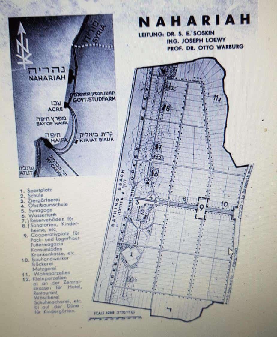 נהריה 1934. מתוך נספח השימור