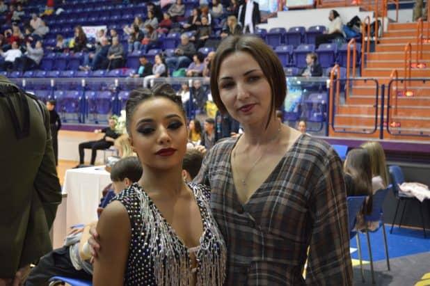טרויאנסקי והמנצחת (צילום: רביב משה)