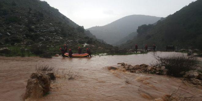 כוחות החילוץ בנחל חילזון. צילום: משטרת ישראל