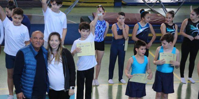 הזוכים בתחרות טרמפולינה באור עקיבא (תמונה מצורפת מהתחרות, צילום: אגף הספורט אור עקיבא)