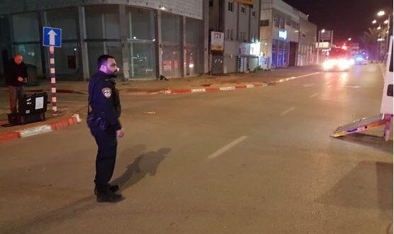 השוטרים בזירת האירוע (צילום דוברות המשטרה)