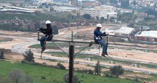 עובדי חברת החשמל בגבול הצפון | צילום: דוברת חברת החשמל