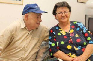 """""""הזוג מייזלס"""". עליזה ואליעזר וולפוביץ (צילום ארכיון: אדריאן הרבשטיין)"""