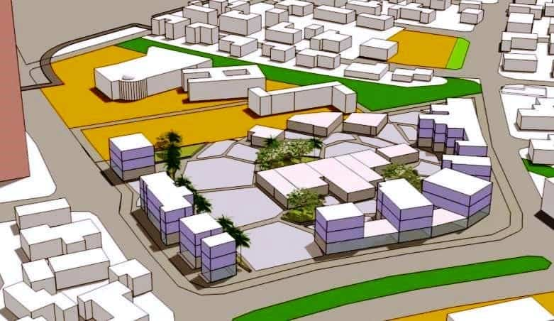 מרכז אזרחי. הדמיה בר-לוי אדריכלים ומתכנני ערים