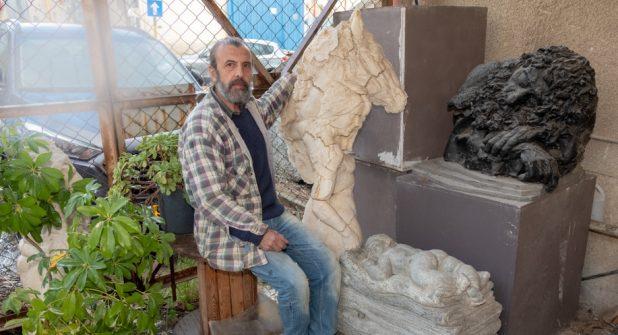 סולומון לבייב בסטודיו צילום אלכס הובר