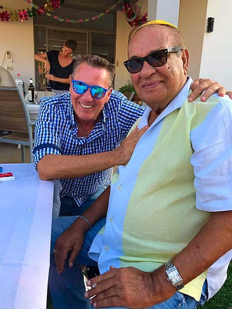 עם החבר הטוב, זאב רווח   צילום: עצמי