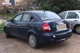 אחת מהמכוניות שמפרצו. צילום: משטרת ישראל