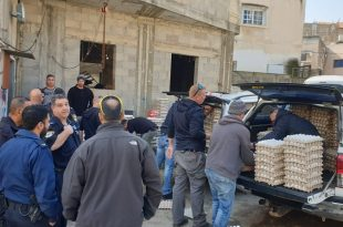 הביצים שהוחרמו, באום אל פאחם. צילום: משטרת ישראל