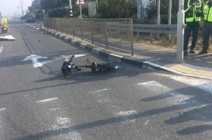 """רוכב אופניים נהרג צילום: מד""""א"""
