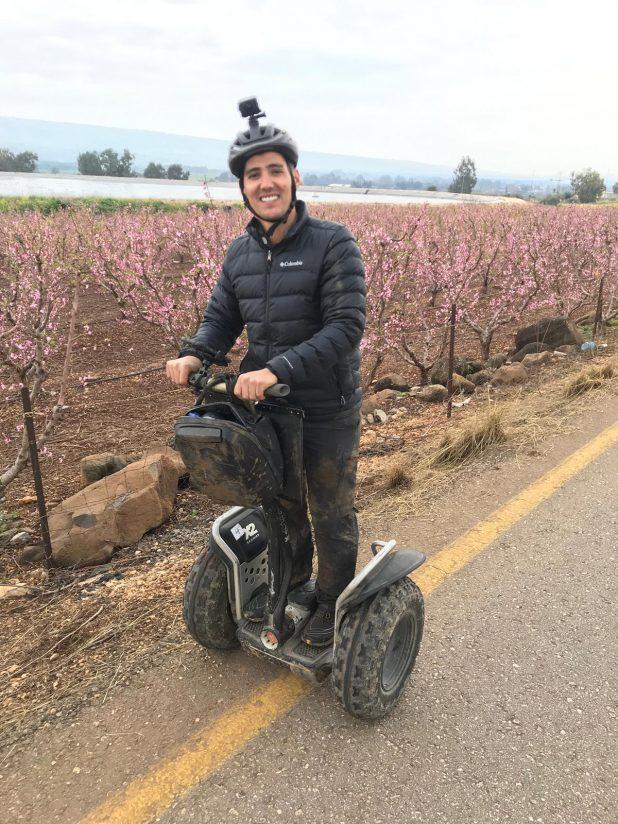 איל כהן על סגווי צילום אודי גורן