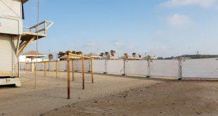 חוף פולג נסגר לארוע פרטי. צילום פרטי
