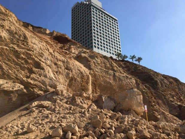 מפולת במצוק כרמל צילום נתי ריגלר