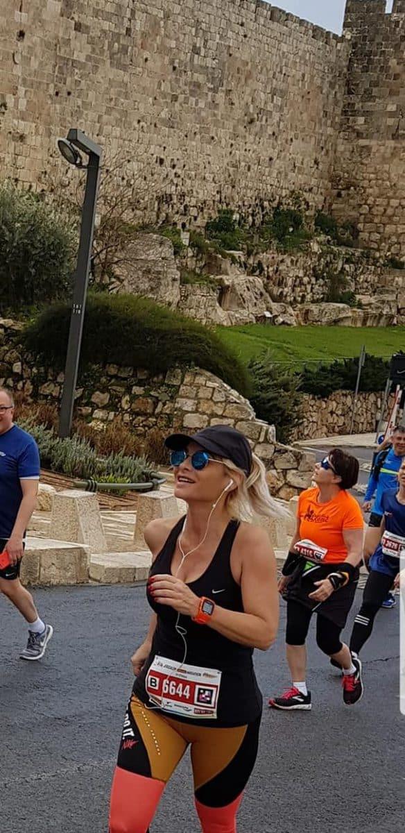 נדרה ורצה. רוחה טנצמן מרתון ירושלים