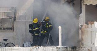 כוחות הכיבוי מנסים להשיג שליטה על האש | צילום: דוברות כיבוי אש