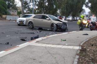 זירת התאונה בקרית חיים | צילום: דוברות המשטרה