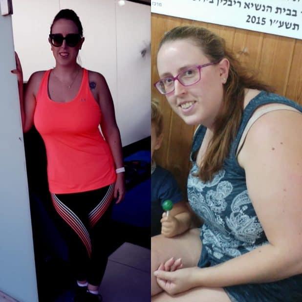 רותם לוי בצילומי לפני הדיאטה ואחריה