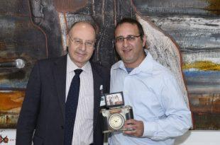 אמיר ירחי ומנהל בית החולים דר' ברהום קרדיט צילום: דוברות המרכז הרפואי לגליל