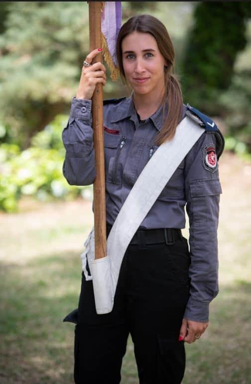 """בגיל 7 עלתה מאורוגוואי לישראל. דניאלה גרודנס   צילום: דובר צה""""ל"""