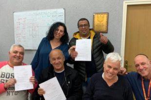 חתימת ההסכם בשטראוס סלטים, צילום דוברות ההסתדרות