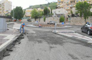 עבודות השדרוג ברחבי העיר (צילום עצמי)