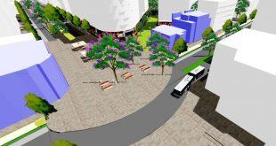 כך תיראה הפיאצה לפי תוכנית ההתחדשות העירונית. הדמיה: עיריית חדרה