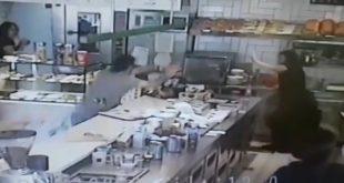אלימות במסעדת ארומה בנהריה