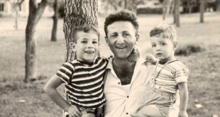 אב חד הורי. גוטרמן עם ילדיו טל ורז