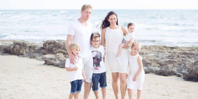 גל אורון והילדים צילום יהודית גמליאל