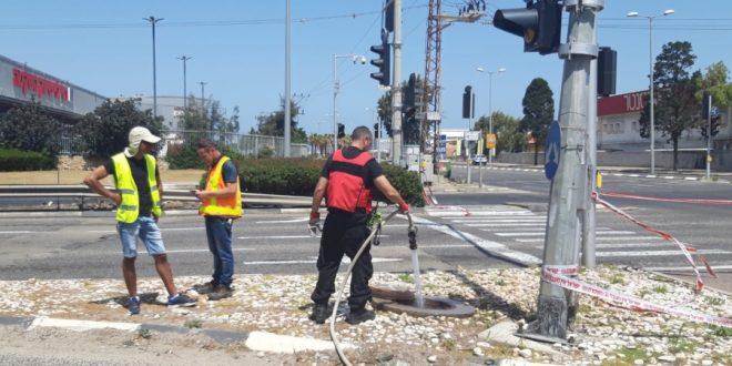 דליפת גז במפרץ חיפה   צילום: המשרד להגנת הסביבה