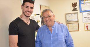 לחמן עם ראש העיר אלי ברדה (צילום עצמי)