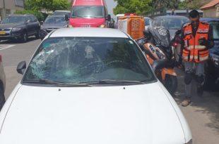 זירת התאונה ברחוב סוקולוב | צילום: דוברות איחוד הצלה