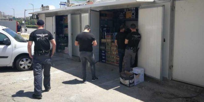 המבצע אתמול בקריות | צילום: דוברות המשטרה חוף