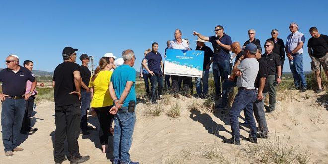 סיור מליאת המועצה לקראת פיילוט הסדרת החופים. צילום: מועצת חוף הכרמל