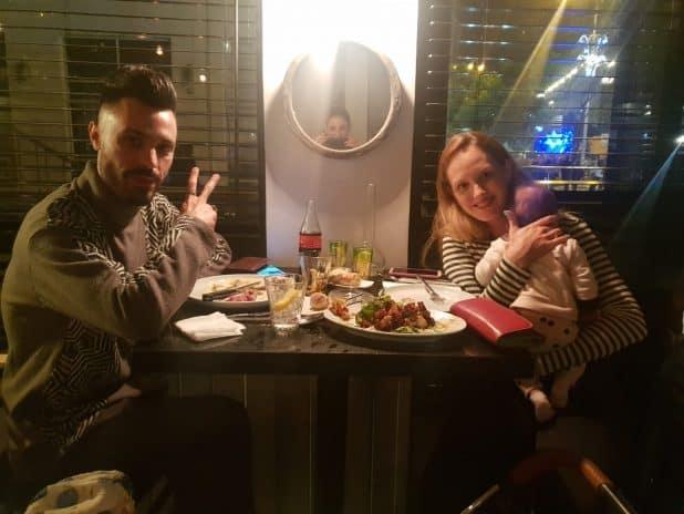 ג'ורדי, האישה והילד במסעדת ג'קלין | צילום: עצמי