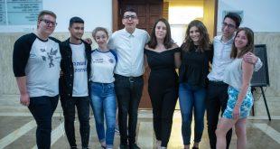פורום הנהגת מועצת הנוער היוצא והנכנס | צילום: דוברות עיריית חיפה