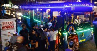 אוטובוס של קווי לילה. צילום: משרד התחבורה